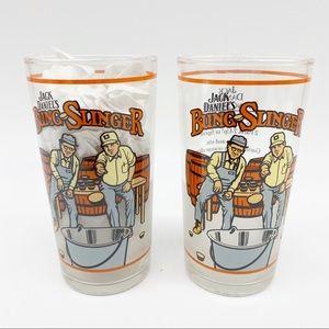 Jack Daniel's Bung Slinger Collectible Glassware Set Of 2